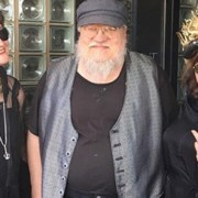 Eileen O'Brien with George R. R. Martin