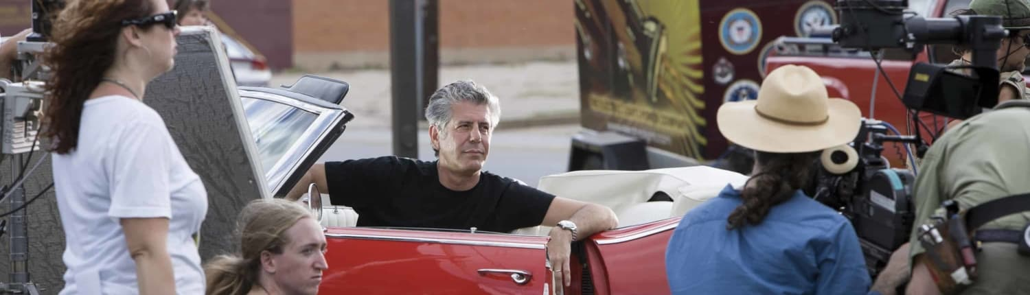 Jeanne Kopeck On Set With Anthony Bourdain