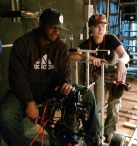 Pushing people around all day on a dolly is how a grip stays in shape